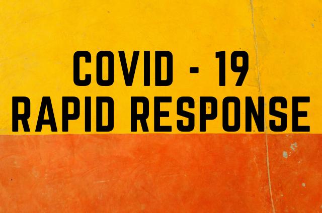Coronavirus Rapid Response Fund Update